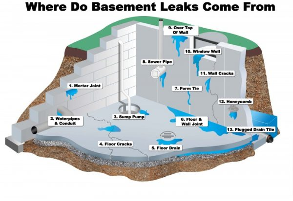 what-causes-leaky-basements-For leaky basements call professionals